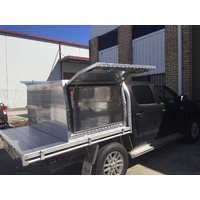1200L x 1770W x 860H Checkerplate Half Canopy