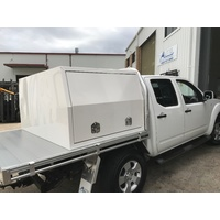 1200L x 1770W x 860H White Powdercoat Half Canopy