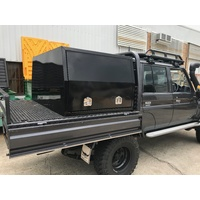 1200L x 1770W x 860H Black Powdercoat Half Canopy