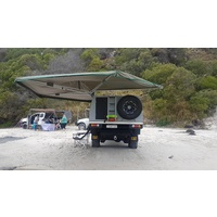 30 Second Wing Awning - Passenger Side Black Bag - 2700L