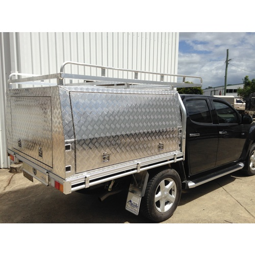 Dual Cab Lift Off Canopy - 1800L x 1800W x 860H - Checkerplate